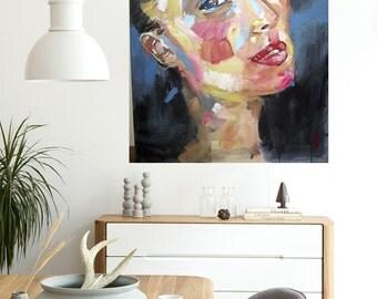 Monica Bellucci, acrylic on canvas by 130x93cm.