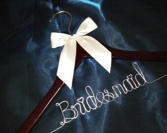 Personalized Wedding Hanger, bridesmaid gifts, name hanger, brides hanger bride gift,bride hanger for wedding dress