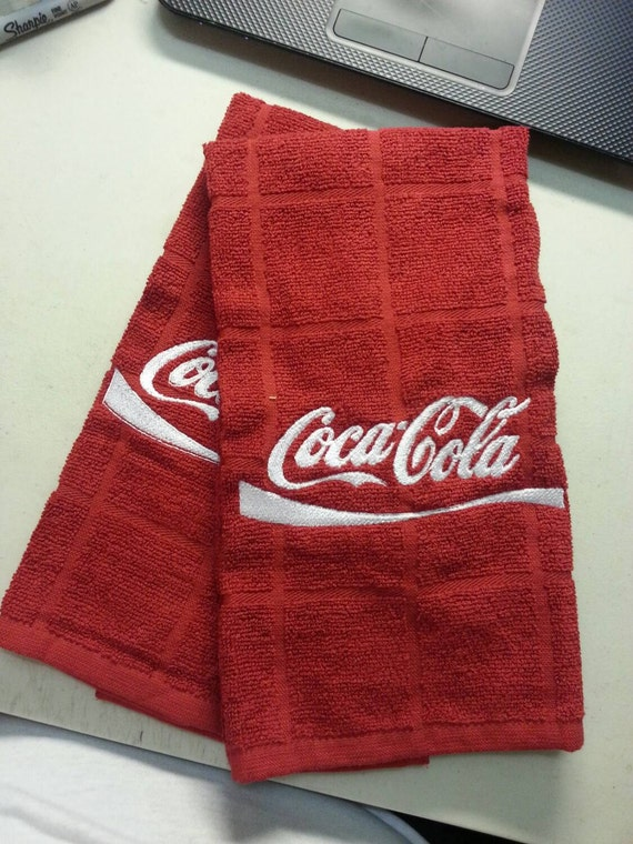 Charming Custom Coca Cola Kitchen Towel