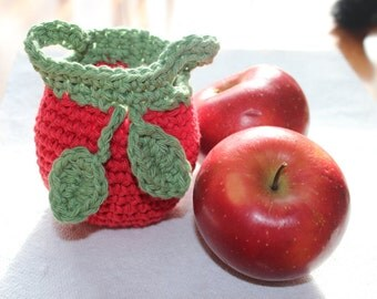 Crochet Cotton Apple Cozy - READY TO SHIP