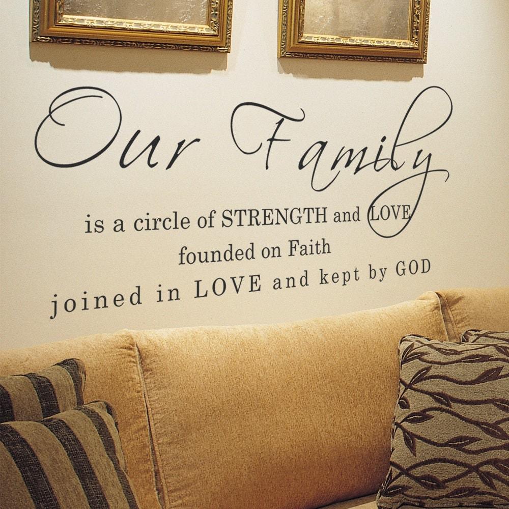 Family Vinyl Wall Quotes Faith Love God Vinyl Words Home Decal