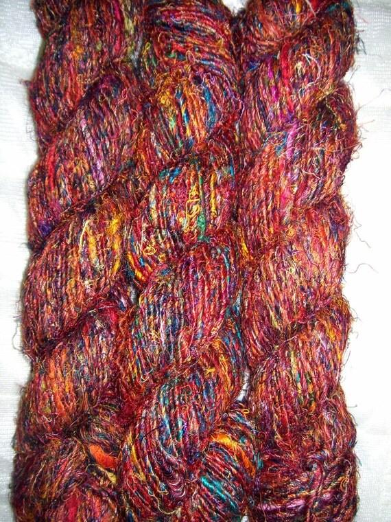 Knitting Or Crocheting Harder : A grade himalaya recycled banana silk hard yarn knit woven