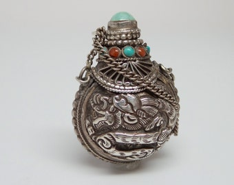 silver snuff bottle on etsy a global handmade and vintage