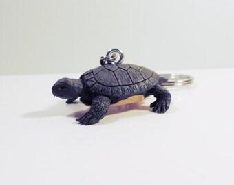 Safari Ltd. Desert TORTOISE Turtle *** Keychain Keyring Key Holder Keys