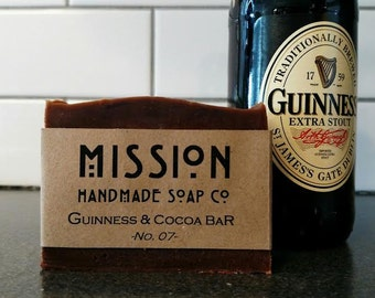 All Natural 4.5 oz. Handmade Guinness & Cocoa Bath and Body Bar