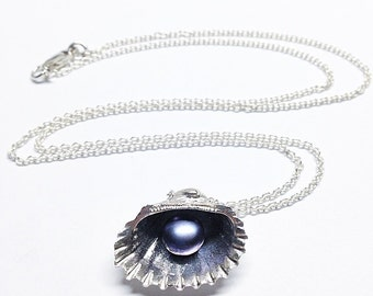 Black Pearl Sea Shell Necklace