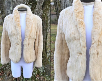 Super soft Vintage Rabbit Fur Coat. Size S