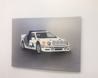 Ford RS200 Painting on Steel - Automotive. Rally car