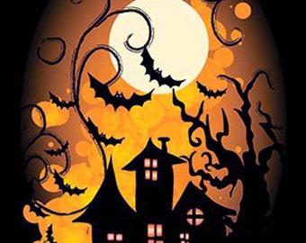 "Creepy Night Halloween Poster 12""x18"""