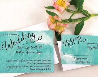 Watercolor Wedding Invitation Sample