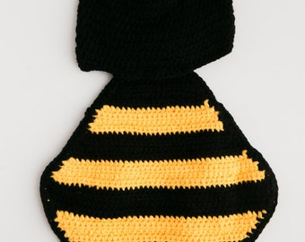 Newborn Baby Boy/Girl Bumble Bee Animal Crochet Cuddle Critter Cape - Photography Prop Outfit