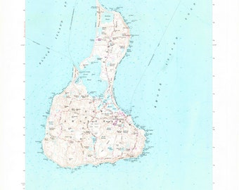 Block Island Topographic Map 1975