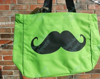 Medium Tote Bag - Mustache