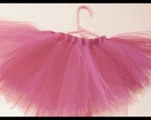 Pink and red baby toddler girl tulle tutu