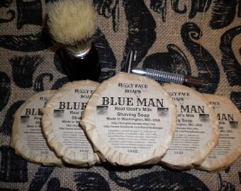BLUE MAN Goat Milk Shaving Soap - Our version of the popular men's cologne, Aquolina Blue Sugar