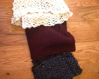 Homemade Knitted Scarves