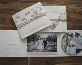 Bespoke CD cases as gift-wrapping for weddings and other occasions - Set of 10 cases