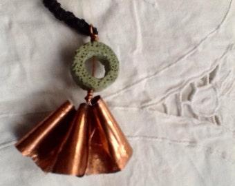 Necklace/pendant copper scroll