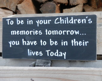 Childrens' Memories country decor wood sign