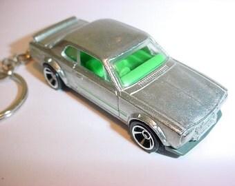 3D Nissan Skyline H/T 2000GT-X custom keychain by Brian Thornton keyring key chain finished in silver color trim