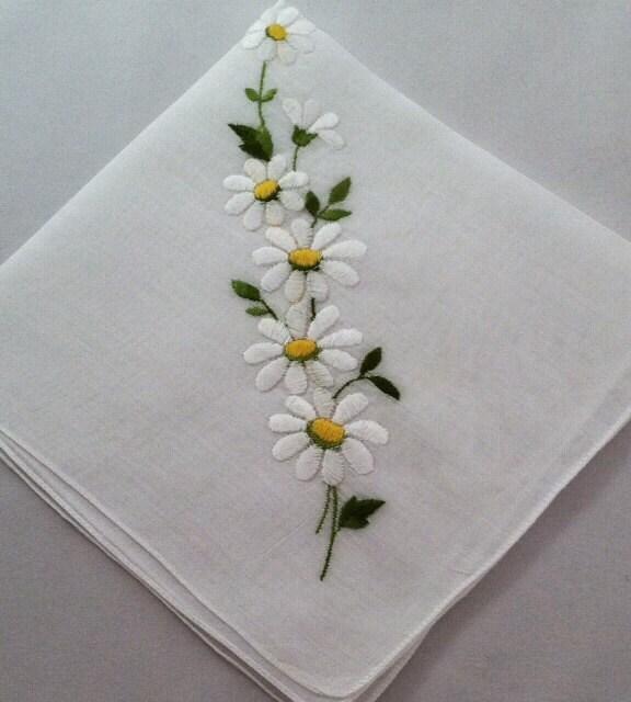 Vintage Handkerchief Embroidered Wedding Hankie