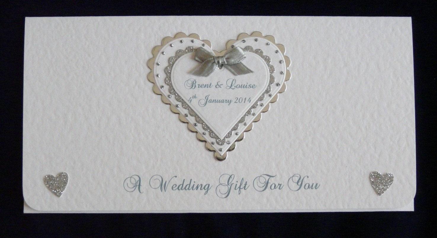 Honeymoon Vouchers As Wedding Gifts: Wedding/Engagement Money/Gift/Voucher By DazzlingHandmadeCard