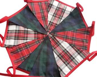 30ft / 9m Tartan Mixed Bunting Pennant Garland: Handsel Burns Night Lanimer Gala St Andrews Party Scottish Ceilidh Hogmanay