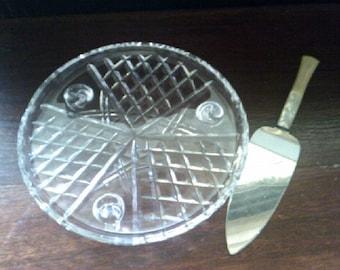 Cake Plate and Slice Art Deco
