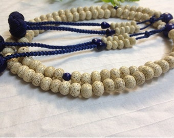Juzu bodhi buddhist malas,Lapis Lazuli parent beads with blue string woven balls,hand-made