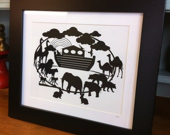 Noah's Ark - Paper cutting template. Personal and Commercial Use PDF