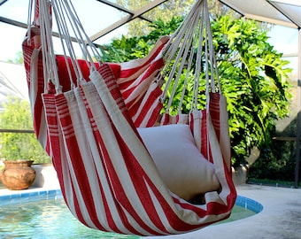 Strawberry Shortcake - Fine Cotton Hammock Chair, Made in Brazil