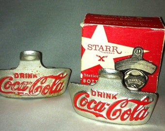 Two vintage Starr  x  cola cola bottle openers