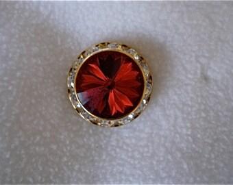 Swarovski Red Crystal Stud Earring, 16mm, bridesmaid earrings, christmas jewelry, red crystal earrings, bridesmaid gift, red wedding
