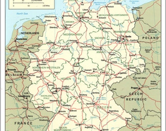 24x36 Poster; Cia Map Of Germany 1994