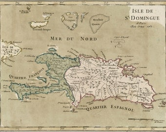24x36 Poster; Map Of Hispaniola Haiti Dominican Republic 1767
