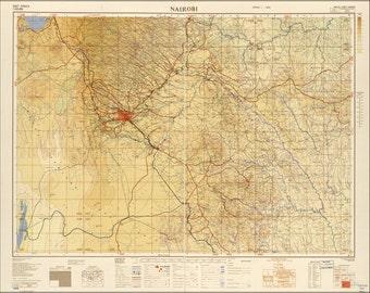 24x36 Poster; Map Of Nairobi 1954