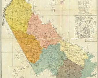 24x36 Poster; Map Of Prince William County, Virginia 1901
