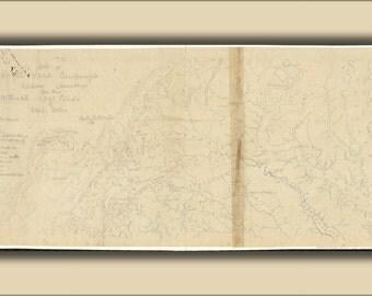24x36 Poster; Map Of Royal Land Companys Railroad Virginia 1870