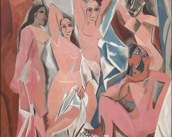 24x36 Poster; Les Demoiselles D'Avignon By Pablo Picasso