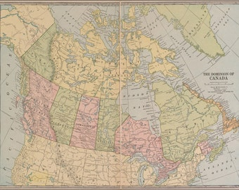 24x36 Poster; Map Of Canada 1927