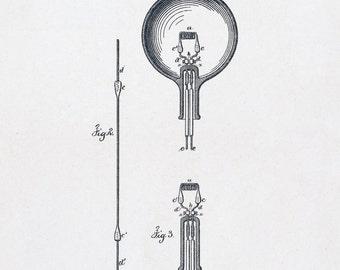 24x36 Poster; Light Bulb Patent Application C.1880