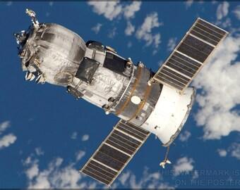 24x36 Poster; Progress Spacecraft Russian