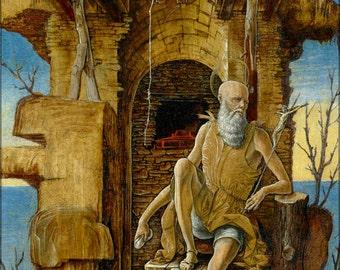 24x36 Poster; Ercole De'Roberti - San Girolamo Nel Deserto (Getty Center, Los Angelos)