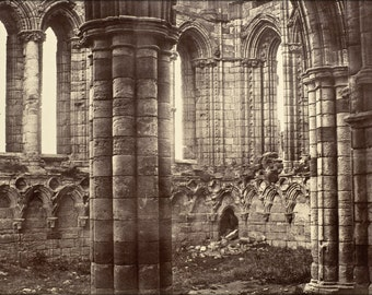 24x36 Poster; Benjamin Brecknell Turner - Whitby Abbey, Yorkshire, North Transept -