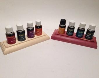 Small Cedar or Pine Essential Oil Stand/Rack/Shelf/Storage holds 4 (15) ml bottles