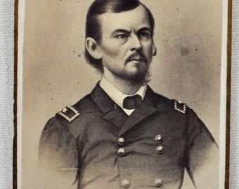 Civil War General Franz Sigel (1824 - 1902) photo. New York photo shop mark.