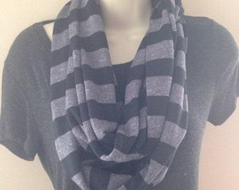 Soft jersey knit infinity scarf