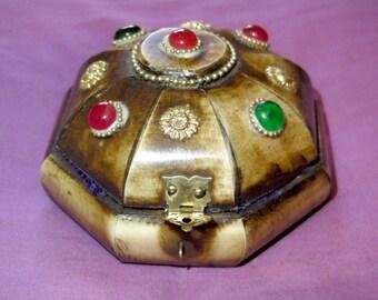 Vintage jewelry box,decorated wood box