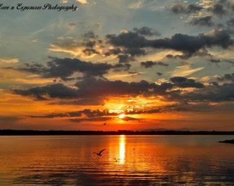 Tangerine sunrise (Landscape, Nature, Sunrise, Fine Art Photography)
