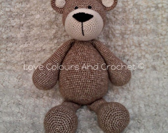 Teddy Bear Amigurumi Stuffed Animal Toy Crochet